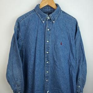 Polo Ralph Lauren Denim Long Sleeve Button Up XL